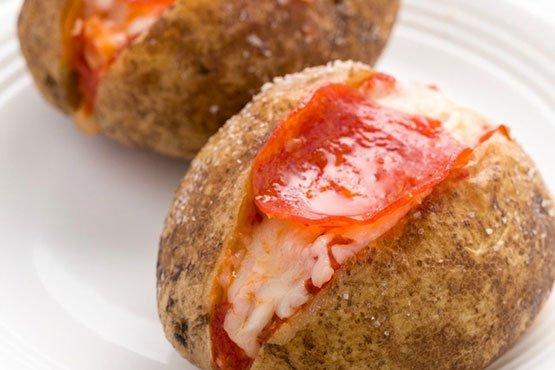 Pepperoni Pizza best Baked Potato recipes