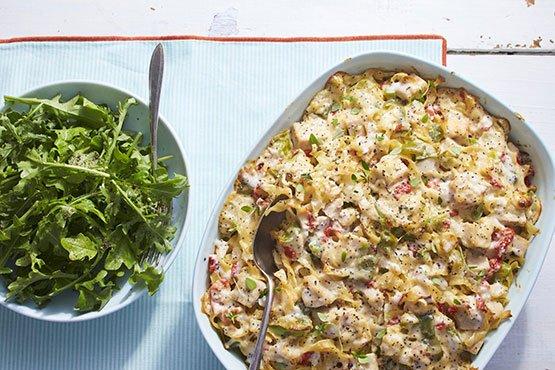 Turkey-Noodle-Poppy Seed Casserole Recipe