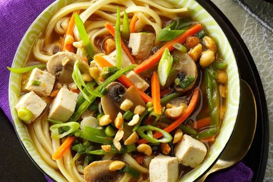 easy recipes with noodles . Asian Tofu Noodle Soup