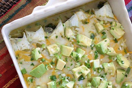 Breakfast Egg White Spinach Enchilada Omelets