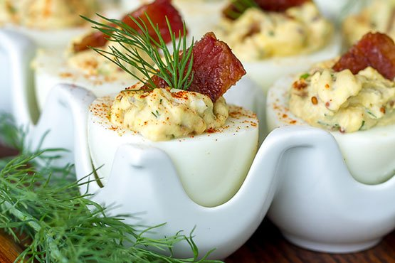 Deviled Eggs with Candied Bacon deviled eggs recipes