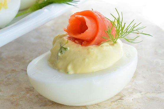 Smoked Salmon Deviled Eggs Recipe