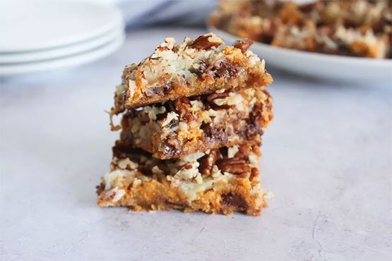 7-Layer Cookies With Coconut and Pecans