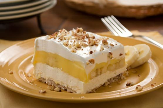 Bananas 'n' Cream Squares