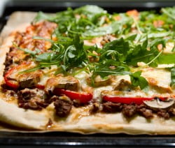 Three Meat Pizza Recipe