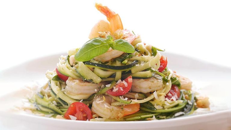 Amazing Prawn Rocket Zuchetti Salad Recipe