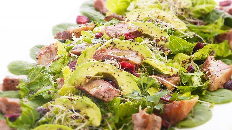 Green Salad with Pan-Seared Lamb Recipe