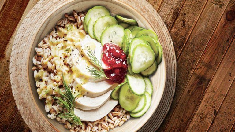 Tangy Chicken Farro Bowl Recipe