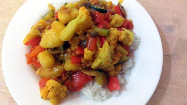 Low-fat, Vegan Coconut Curry Recipe