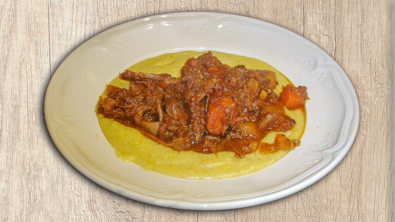 Braised Lamb Neck Stew over Polenta Recipe
