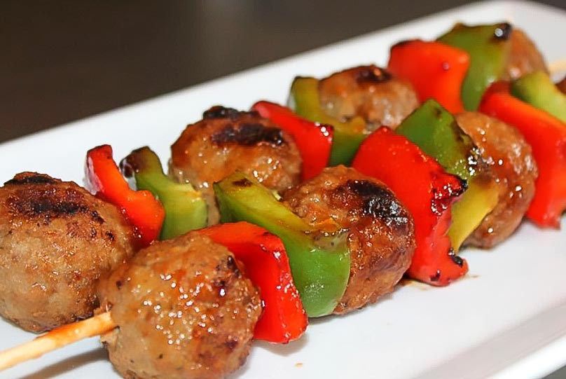 Easy Saucy Meatball Kabobs Recipe