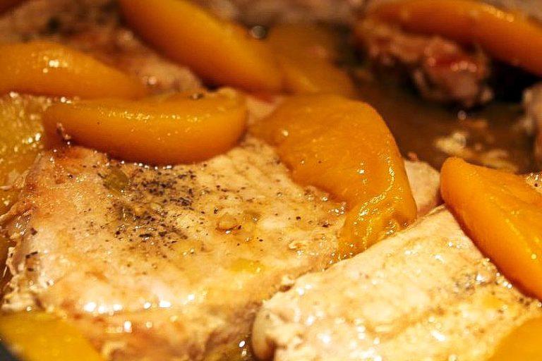 Pork Chops with Bourbon Peach Sauce Recipe
