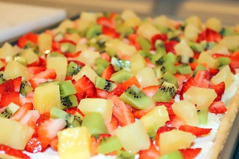 Summer Fruit Pizza - Tasty Dessert